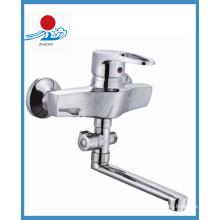 Moderner Einzelhandgriff Messing Küchenarmatur mit Chrom (ZR20903-A)