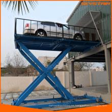 elevación hidráulica de la rampa del coche