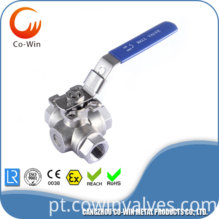 304 Three Way Ball Valve