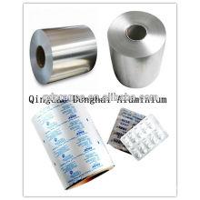 Folha de alumínio para produtos farmacêuticos