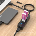 ORICO Puerto USB 3.0 OTG Ultra-Mini HUB con 3.3Ft / 1M Cable USB3.0 incorporado (W5PH4-S2)