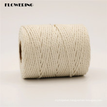 Factory Wholesale 100% Natural Cotton Rope for Flower Wrapping, Gift Packing, Home Decoration, Gardening, Gathering, Party, DIY