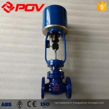 Soupape de commande de pression de débit de vapeur d'actionneur électrique de contrôle de revêtement
