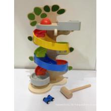 Holz Big 2 in 1 Punch Ball und Rennwagen Spielzeug-Set