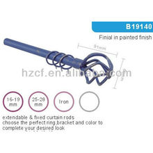 Hot sell decorative home metal curtain pole finials