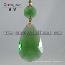 Araña de cristal gota verde moderna 2015 colgante de cristal lámpara Led nuevo diseño