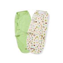 красивый бамбук Baby пеленальное одеяло младенца пеленание регулируемый