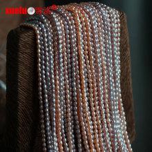 2.5-3mm petits perles de perles d'eau douce naturelles de micro riz (E180064)