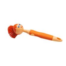 Escova de cabelo bonita da boneca da escova da cozinha do estilo da menina com material dos PP e do TPR