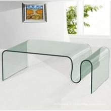 Изогнутое / изогнутое современное стекло для журнального столика
