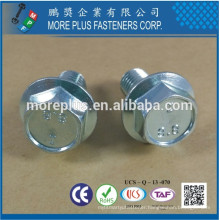 Made in Taiwan Grade 8.8 Hex Flange Serrated Washer Full Thread Bolts