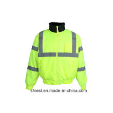 High Visibility Waterproof Safety Jacket with 3m Reflective Tape