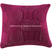Stricken Cardigan dekorative Sofa Dekokissen Kissenbezug 100% Acryl