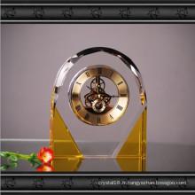 Horloge en verre de cristal d'or d'arch K9 pour la décoration