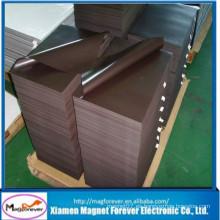 Imán de goma flexible del neodimio del PVC del material magnético autoadhesivo