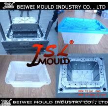 Molde de Tote de armazenamento de plástico de injeção resistente