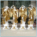 Life Size Golden Paint Marble Four Season God Statues