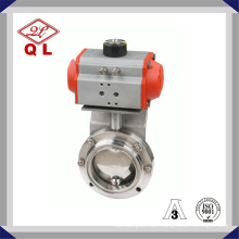Sanitary Clamped Butterfly Valve with Horizontally Pneumatic Actuator