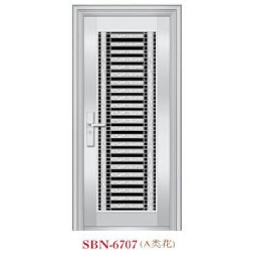 Porta de aço inoxidável para a luz do sol exterior (SBN-6707)