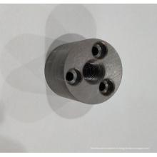 Connecteur rond en acier avec filetage