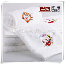 Hot Sale Embroidered Logo Available Wholesale White Bath Towel Guangzhou