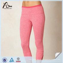 Leggings feitos sob encomenda de alta qualidade da ioga de Suppli Capri do ajuste seco para mulheres