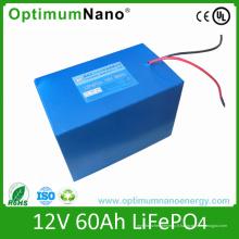 Batterie LiFePO4 de stockage d'énergie solaire 12V 60ah