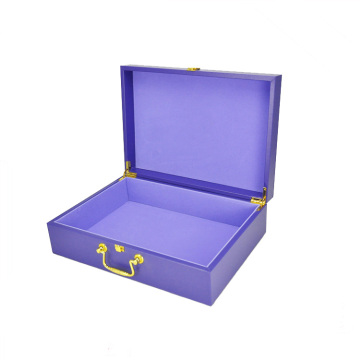 PU Cover Wooden Cosmetic Rigid Gift Box