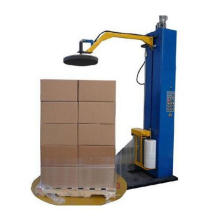 stretch wrapping machine pallet wrapping machine with top plate