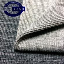 tissu polyester spandex 2x2 côtes pour vêtements