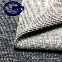 polyester spandex 2x2 rib fabric for garments cloth