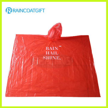 One Time Use PE Disposable Rain Poncho Rvc-116