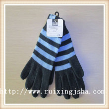 Men's Knitted Stripe gloves