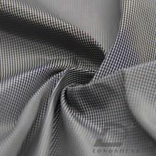 Imperméable à l'eau et à l'extérieur Vêtements de sport en plein air Veste en coton Tissé Jacquard Tissu 100% polyester en fil de fil noir (FJ010F)