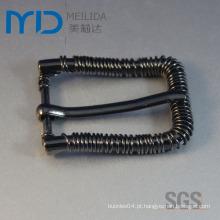 Cool Pin Belt Buckles com ferro Wire Anel Decorações