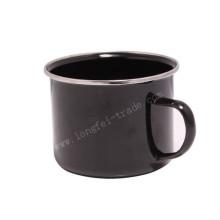 Blue Rimmed Plain Enamel Decaled Enamel Mug/Cup