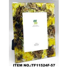 Bela moda folha de ouro papel vidro Molduras para fotos