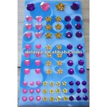 Self adhesive multicolored rhinestone sticker