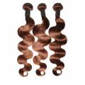 Épaisseur adaptée aux besoins du client 100g-220g blonde faisceaux de cheveux brésiliens humains