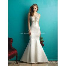 Luxus Taft Embroidary Strass sehen durch Hochzeit Brautkleider