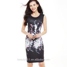 Contraste vestido de mulher de negócios vestidos de vestidos de escritório formal senhoras para festa SD04