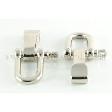 Hebilla de metal en forma de D ajustable