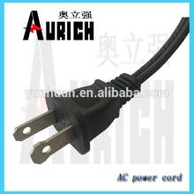 UL 125v padrão Aviable cabos Popular fio de extensão