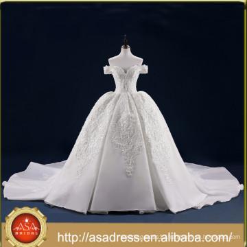YASA-09 robe de mariage Vintage Luxury Cap Sleeves Ball Gown Wedding Dress Bridal Gown