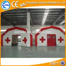 Tente de vente chaude avec fond gonflable, camping-car médical pneumatique gonflable