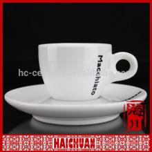 Ceramic tea cup and saucer custom logo