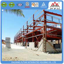 Movable floating rock wool panel building structure workshop