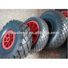 "9""rubber wheel 3.00-4 for wheel barrow"