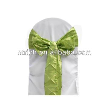 Elegante Taft Pintuck-Stuhl-Abdeckung-Schärpe, Tischläufer für Hochzeit