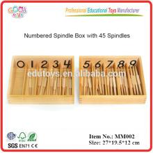 Montessori material Husillos, Caja de 45